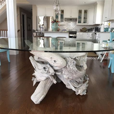 driftwood and glass dining table beautiful driftwood dining table crafted from gulf