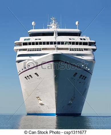 facing the bow of a boat where is the port side cruise ship bow water level view of cruise ship facing