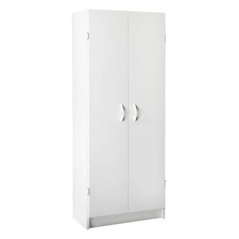 White Pantry Storage Cabinet by Large 2 Door Cabinet Utility Or Pantry Storage Target