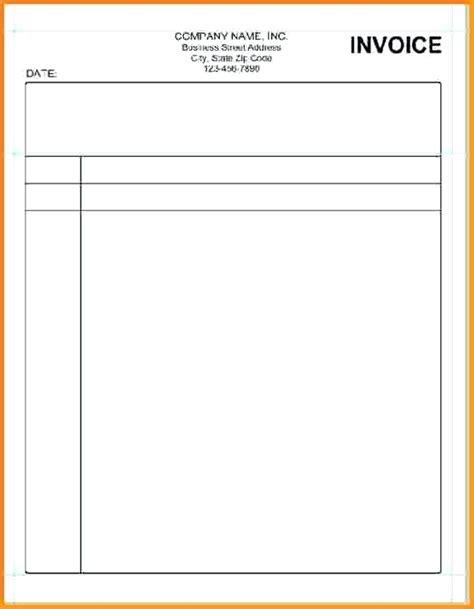 blank invoice template blank invoice paper 9 simple blank invoice template blank