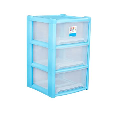 3 Drawer Wide Plastic Storage Unit by Wham Plastic 3 Drawer A4 Tower Storage Unit Rear