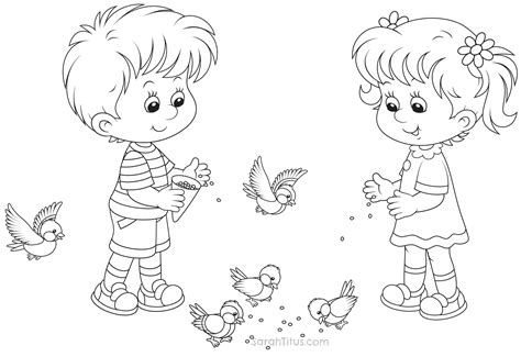 boy and girl coloring page wallpaper download