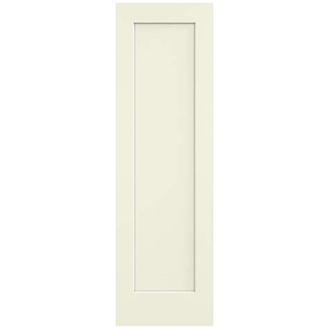 jeld wen 24 in x 80 in molded smooth 2 panel arch plank jeld wen 24 in x 80 in madison vanilla painted smooth