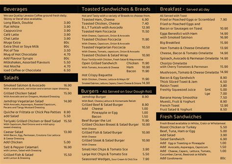 Menu Office by Jam Drop Cafe Cairns Office Catering Cairns Jamdrop