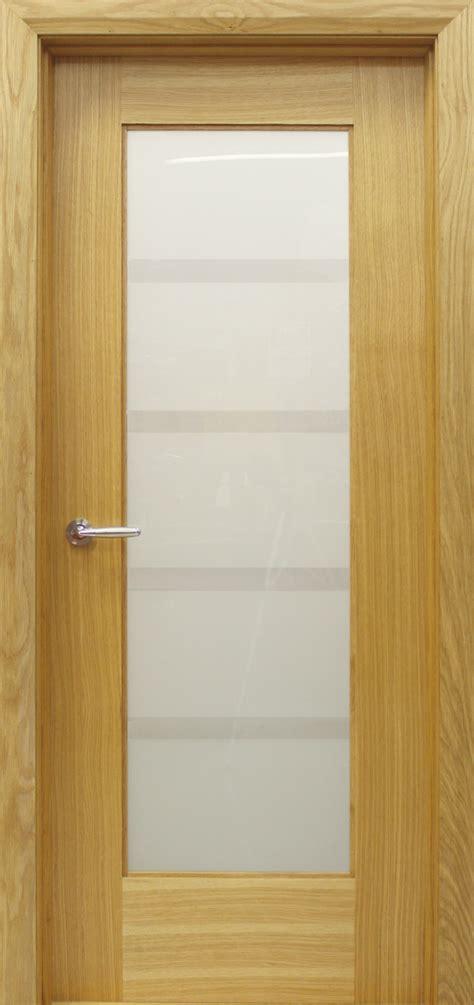Oak Glass Doors Shaker 1 Lite Vision Glass White Oak Door 40mm Doors Oak Doors