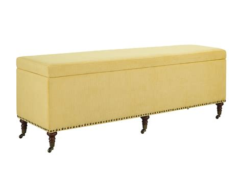 yellow storage bench linon cassidy yellow bench with storage 60 quot 368318yel01u