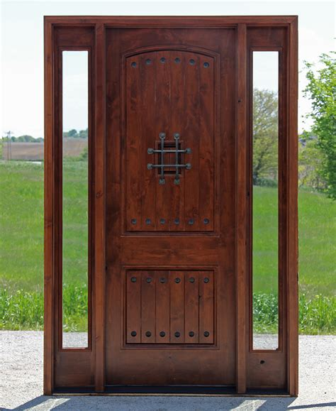 Clear Glass Entry Doors by Popular Exterior Rustic Doors With 2 Sidelights