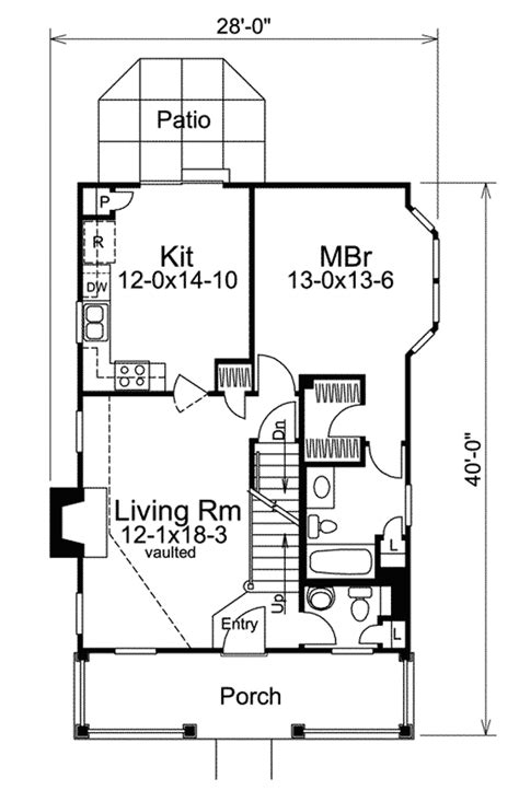 small lot house floor plans country appeal for a small lot 57027ha 1st floor master suite cottage country narrow lot