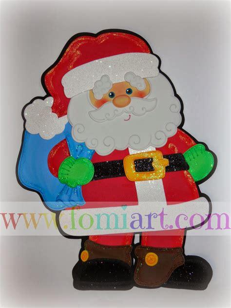 Imagenes De Santa Claus En Foami   revista de moldes fomiart diciembre 2015 moldes para