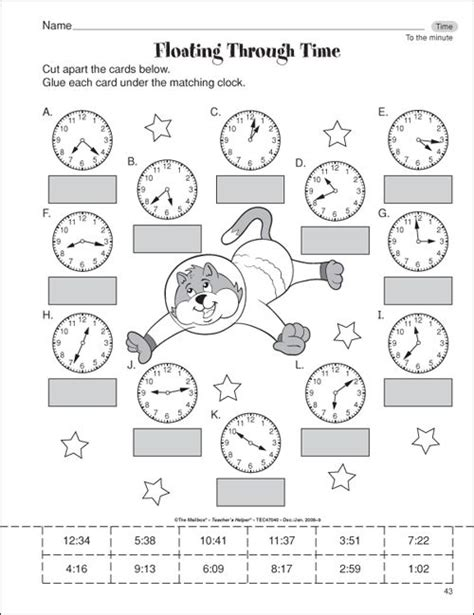 clock worksheets cut and paste although clocks are mostly digital in this day and age it