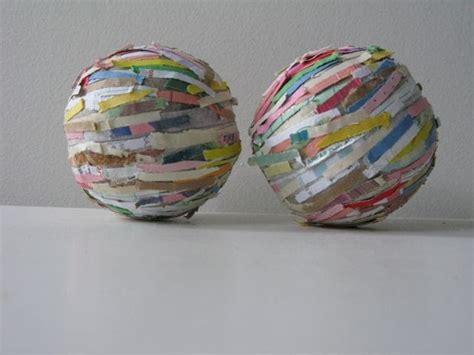 How To Make Paper Mache Balls - sew nancy paper scrap papier mache balls