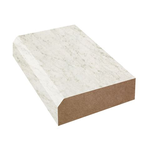 bevel edge laminate countertop trim white carrara 4924 38