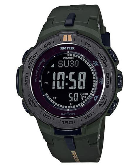 Casio Protrex G Shock pro trek prg 300 prw 3100y basic black and khaki green