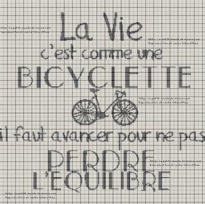 D M C Broderie Grilles Gratuites by Grilles Gratuites La Vie C Est Comme Une Bicyclette