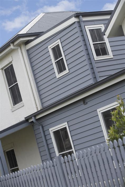 blue grey weatherboards with white trim ones we both like cases white trim and