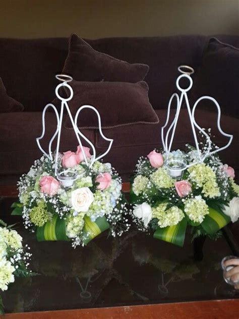 imagenes de adornos otoñales centerpieces baptims angels bases de metal en forma de