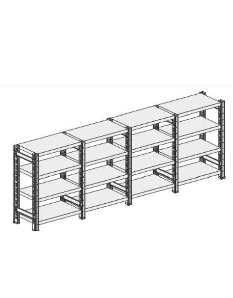 montaggio scaffali metallici scaffale metallico in acciaio 7 ripiani cm 90x60x350h