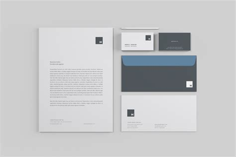 template mockup professional stationery mockup