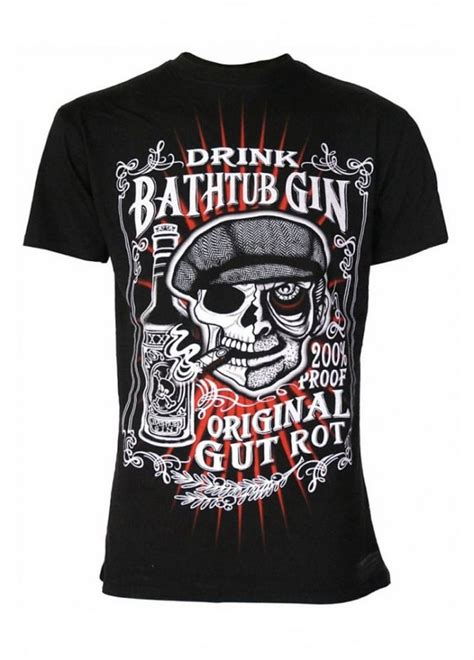 bathtub gin t shirt darkside clothing bathtub gin t shirt attitude clothing