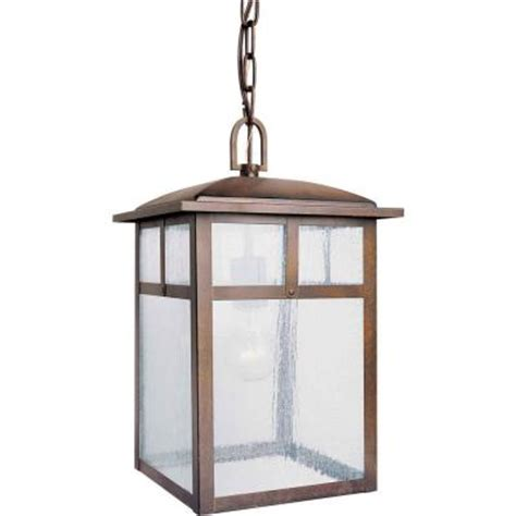 talista 1 light outdoor rustic pendant with clear