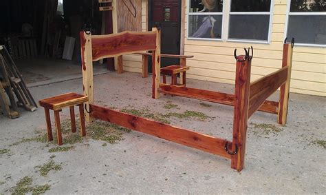 Cedar Wood Bed Frame Size Bed Frame By Cedar Furniture Lodge Lumberjocks Woodworking Community