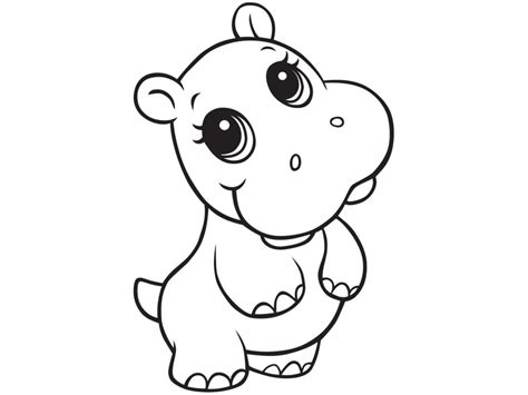 cute free printable hippo coloring pages for kids