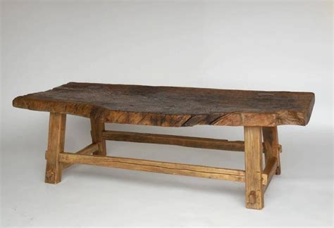 elm live edge pedestal coffee one wide board elm wood coffee table with live edge at 1stdibs