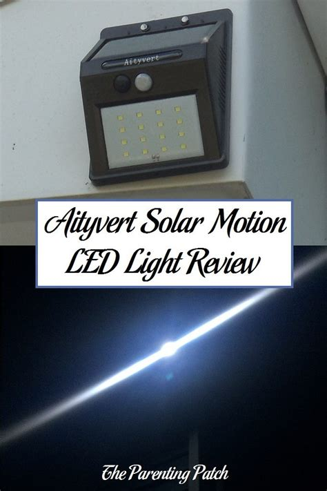 solar light review aityvert solar powered motion led light review parenting patch