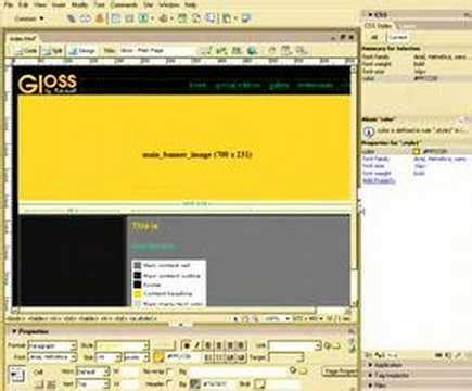 youtube tutorial dreamweaver 8 macromedia dreamweaver tutorial 8 youtube