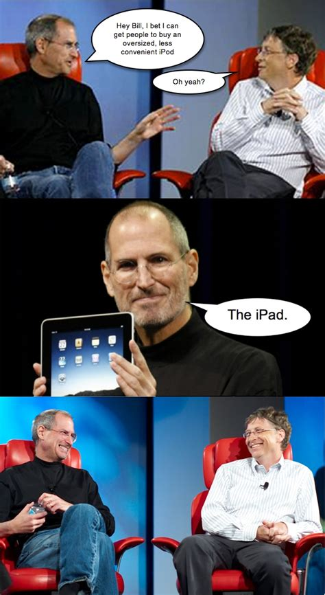 Bill Gates Steve Jobs Meme - image 152652 steve jobs vs bill gates know your meme
