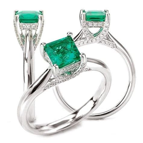 made 18k cultured 5 5mm princess cut emerald
