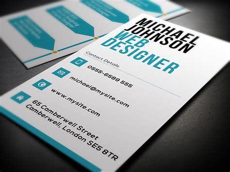 Business Card Template Web Designer by Web Designer Business Card On Behance