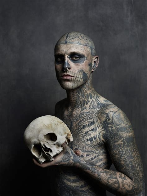zombie boy tattoo rick genest boy monsters in and literature