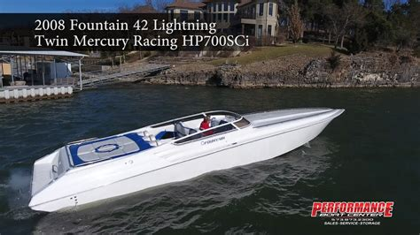 fountain boats youtube 2008 fountain 42 lightning performance boat center youtube