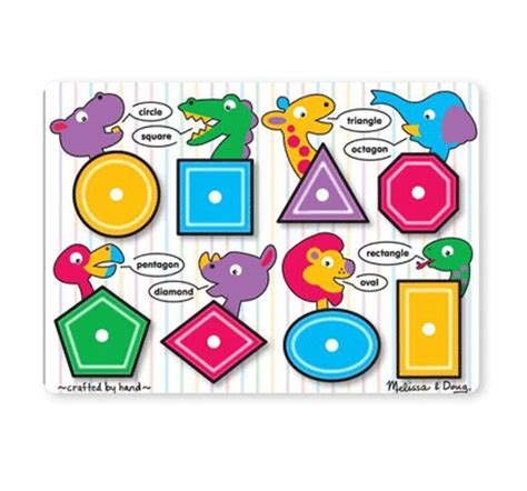 Doug Color Shapes Animals Peg Puzzle 15 best wooden puzzles for in 2017