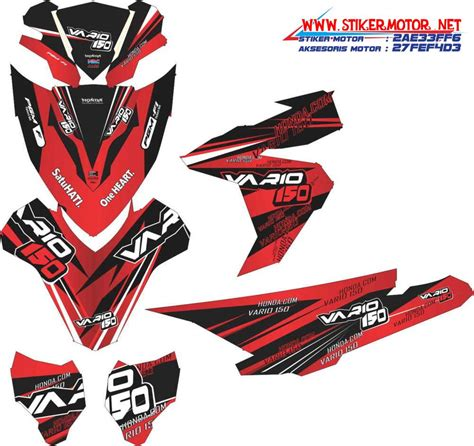 Sticker Striping Beat Fi Race striping motor honda vario esp dragrace stikermotor net