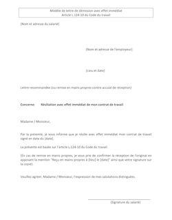 Lettre De Demission Entreprise De Nettoyage lettre de d 233 mission clb296 emploi et carri 232 res