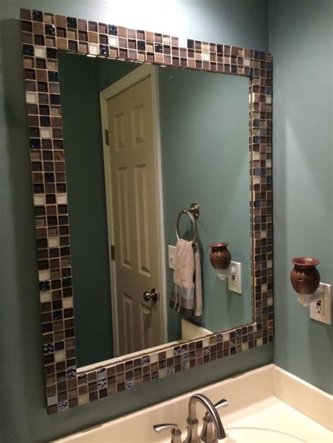 Diy Bathroom Mirror Makeover Home Design Ideas Diy Bathroom Mirror Ideas