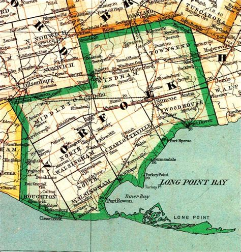 the changing shape of ontario county of norfolk