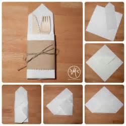 Paper Napkin Folding With Silverware Inside - 25 best ideas about bestecktasche falten on