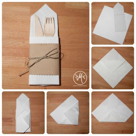 Paper Napkin Folding With Silverware - 25 best ideas about bestecktasche falten on