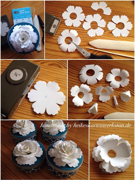 How To Make Handmade Paper Flowers - handmade flowers tutorial modern magazin