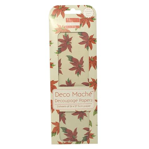 Deco Mache Decoupage Papers - deco mache decoupage papers poinsetta craftyarts co uk