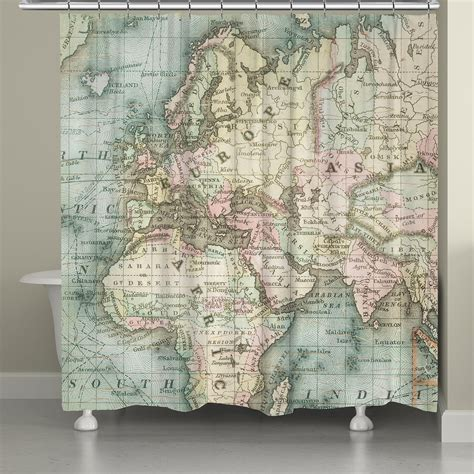 map of the world shower curtain world map shower curtain from laural home things i want as