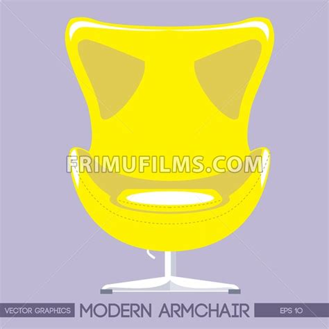 Yellow Modern Armchair Yellow Modern Armchair Pink Background Digital