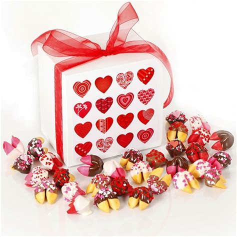 you for a fortune filled day frosted favor take out boxes set of 12 valentine s day fortune cookies chocolate covered