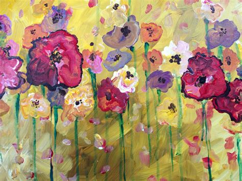 spring paint public event spring flowers painting party at mezzo pazzo