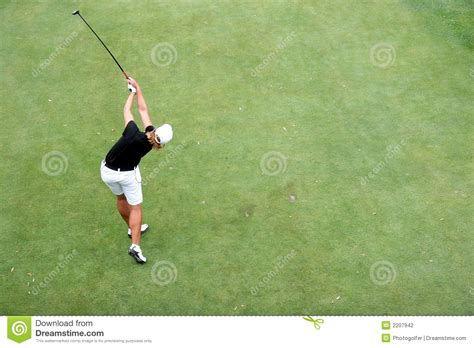 lady swings lady golf swing in evian stock photography image 2207942