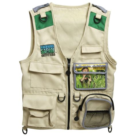 backyard safari vest amazon com backyard safari cargo vest toys games
