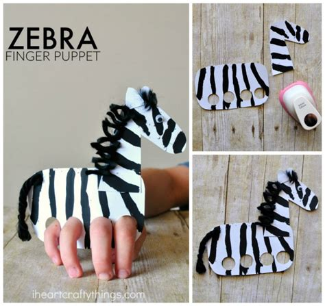 Things To Make Out Of Paper Plates - galloping finger puppet zebra craft i crafty things